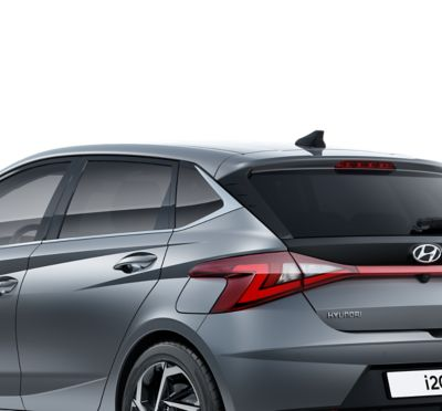 Close-up of the left side C-Pillar of the all-new Hyundai i20