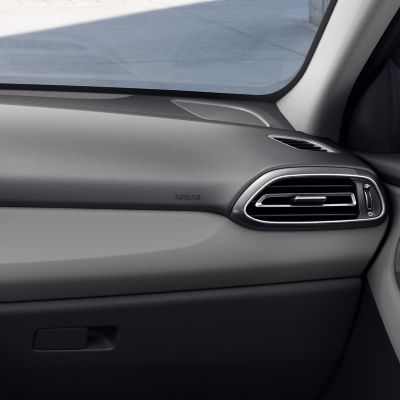 The new Hyundai i30 interior in pewter gray.