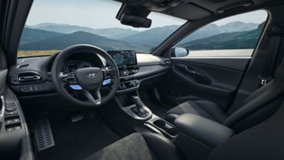 interior view of the cockpit inside the new Hyundai i30 Fastback N.