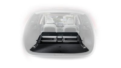 Photo of the luggage floor rail system in the new Hyundai i30 Wagon.
