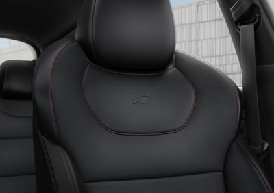 Close-up of the high-performance sport seats in the new Hyundai i30 N Line Wagon