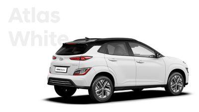 The Hyundai KONA Electric with the exterior colour Atlas White.