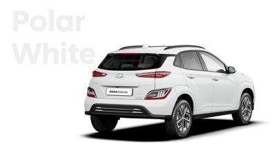 The Hyundai KONA Electric with the exterior colour Polar White.