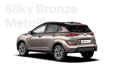 The Hyundai KONA Electric with the exterior colour Silky Bronze Metallic.